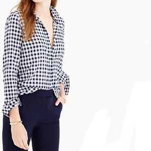 J. Crew Classic Fit Boy Shirt in Crinkle Gingham